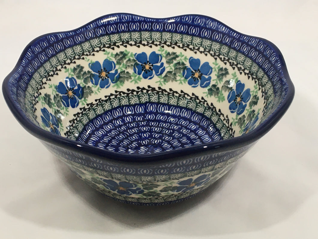 Bowl ~ Wavy Edge ~ Small ~ 8 inch ~ Morning Glory