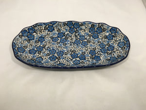 Tray ~ Scalloped Oval ~ 6.25 x 12.5 inch ~ U4785 ~ U3