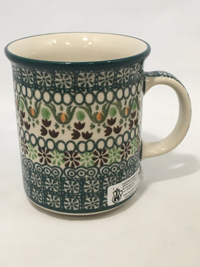 Mug ~ Straight Side ~ 8 oz ~ Green Ribbon