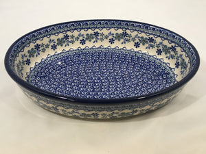Baker Oval ~ 10.5 inch ~ Cool Blue