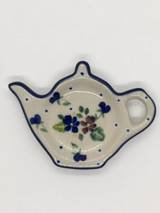 Tea Bag Holder ~ Purple Pansy