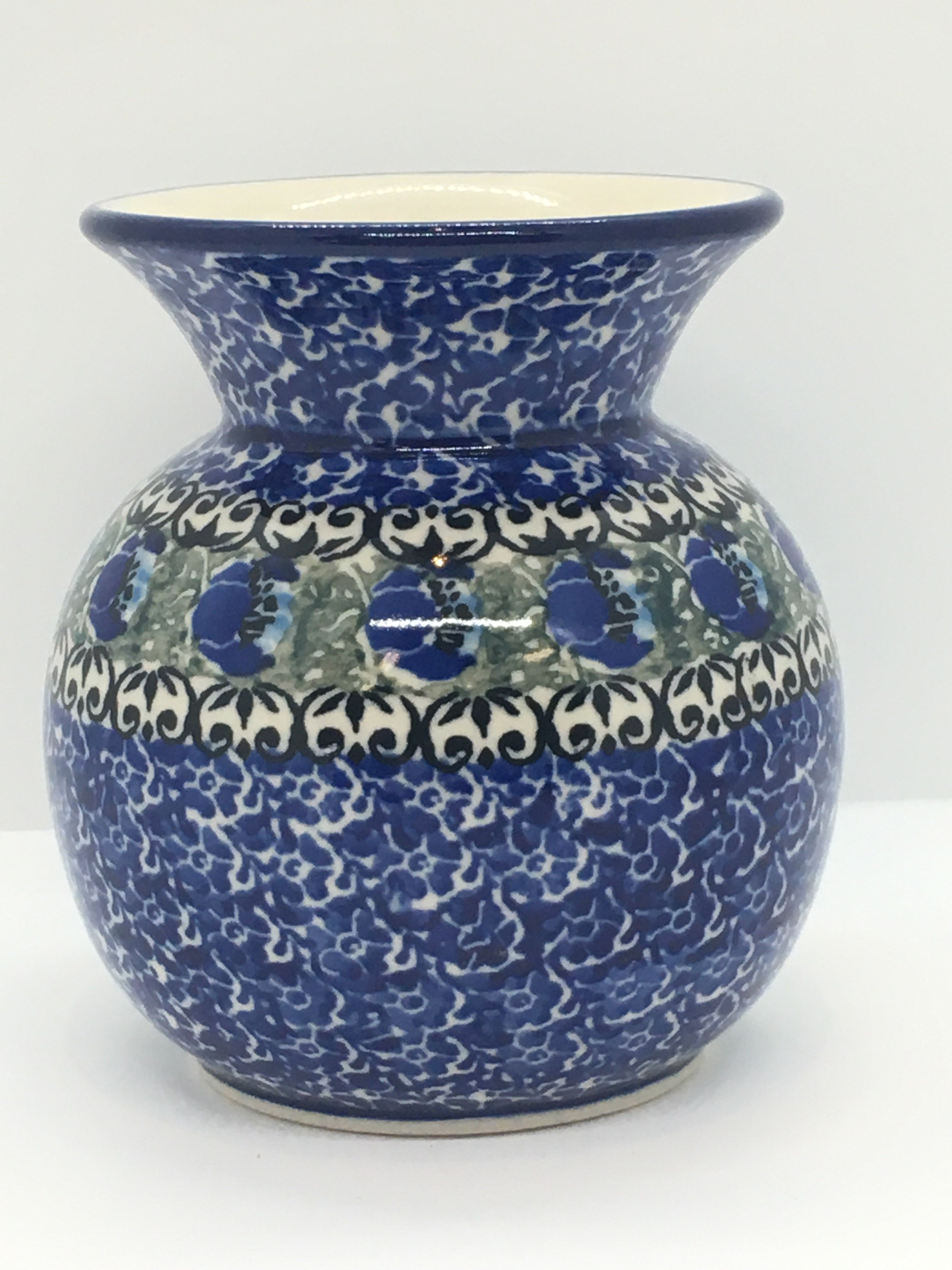 Vase ~ Bubble ~ 4.25 inch ~ Peacock Feather