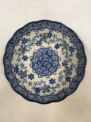 Bowl ~ Scalloped ~ 4.5 inch ~ Cool Blue
