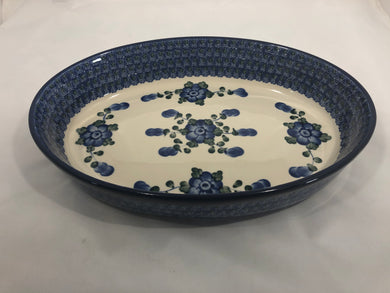 Baker Oval ~ 12 inch ~ Blue Poppy