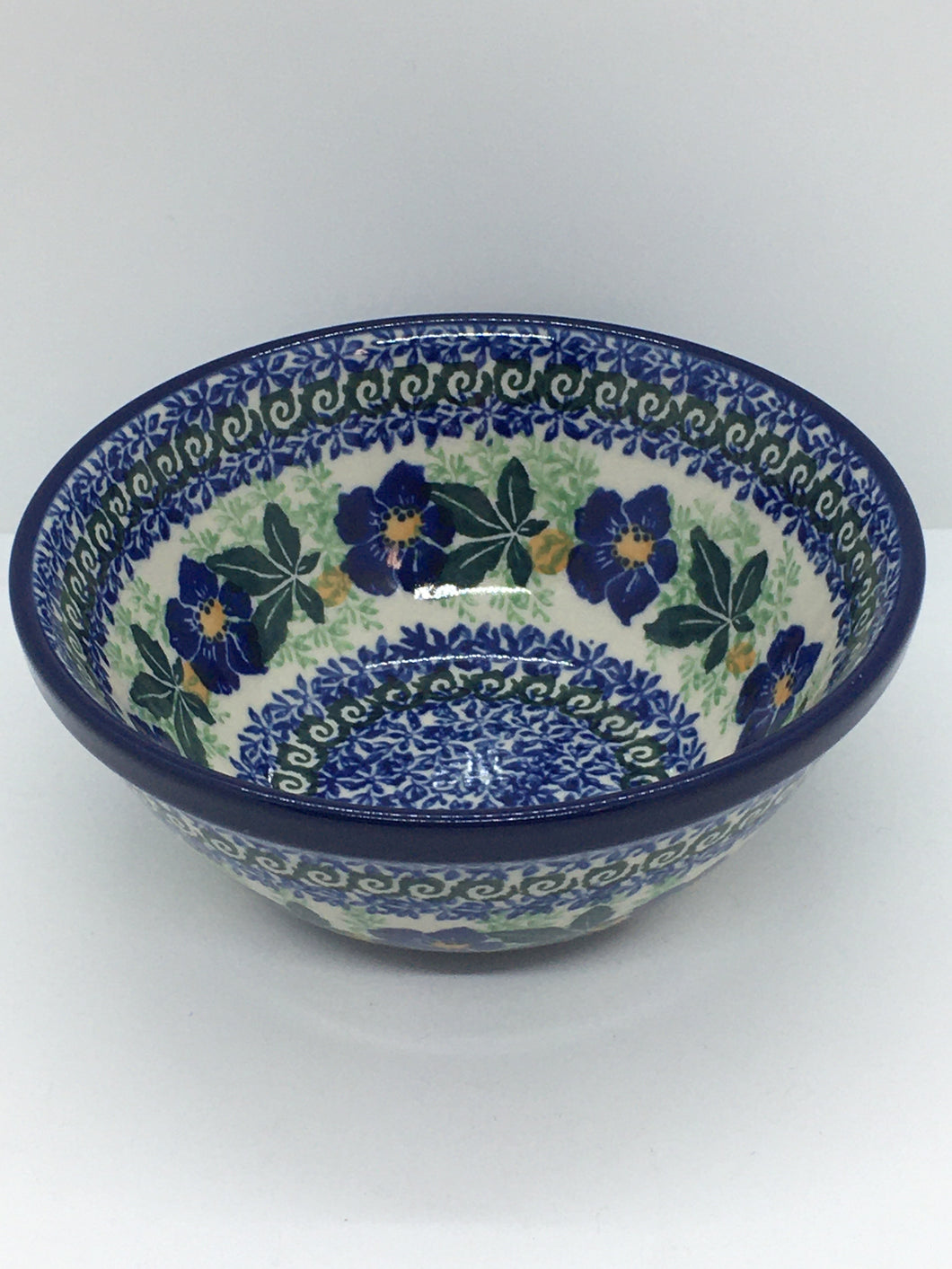 Bowl ~ Nesting Salad/Cereal ~ 5.5 W ~ Blue Pansy