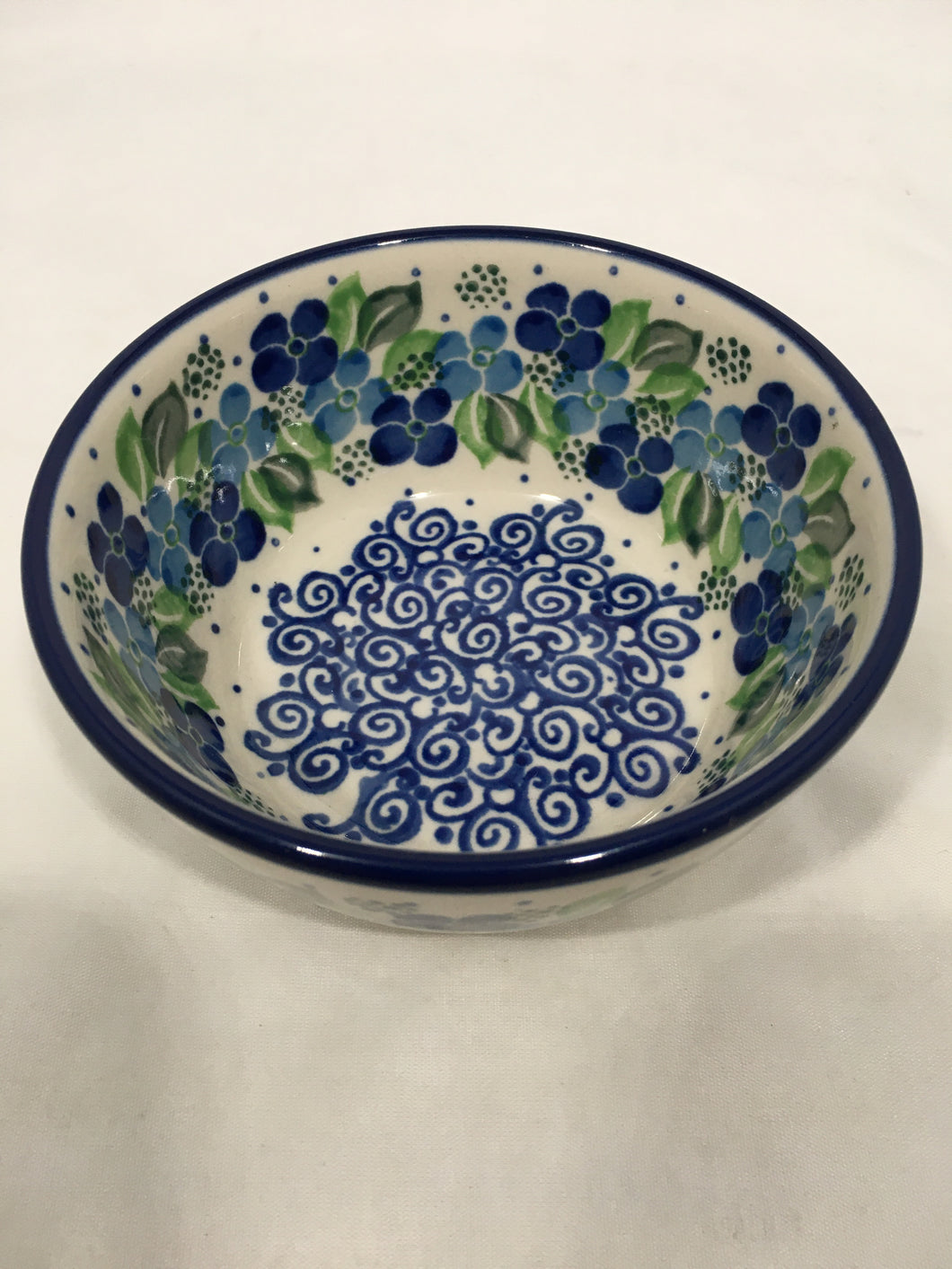 Bowl ~ Ice Cream ~ 4.5 inch ~ Blue Phlox