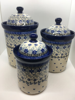 Jar / Canister Set ~ 2158 Amazing Lace