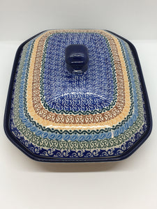 Baker ~ Covered Casserole ~ 9.5 x 12 inch ~ Blue Moon