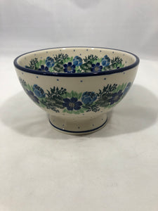 Bowl w/Pedestal ~ 5.25W ~ Spring Meadow
