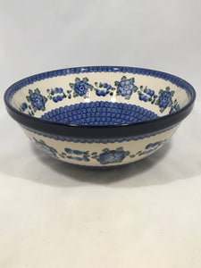 Bowl ~ Nesting ~ 10.75 W ~ Blue Poppy