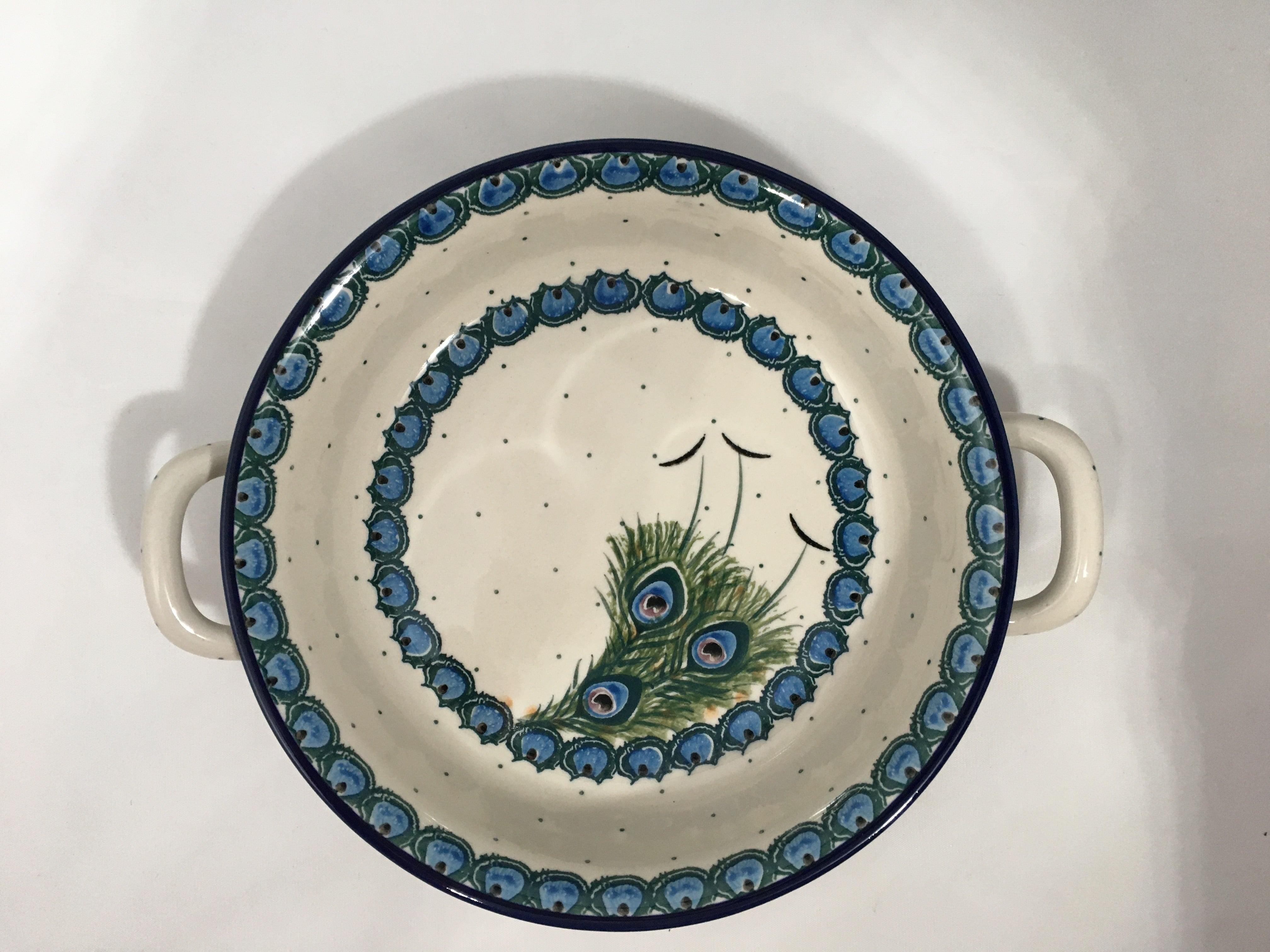 Baker ~ Round w/ Handles ~ 8 inch ~ Art of the Feather