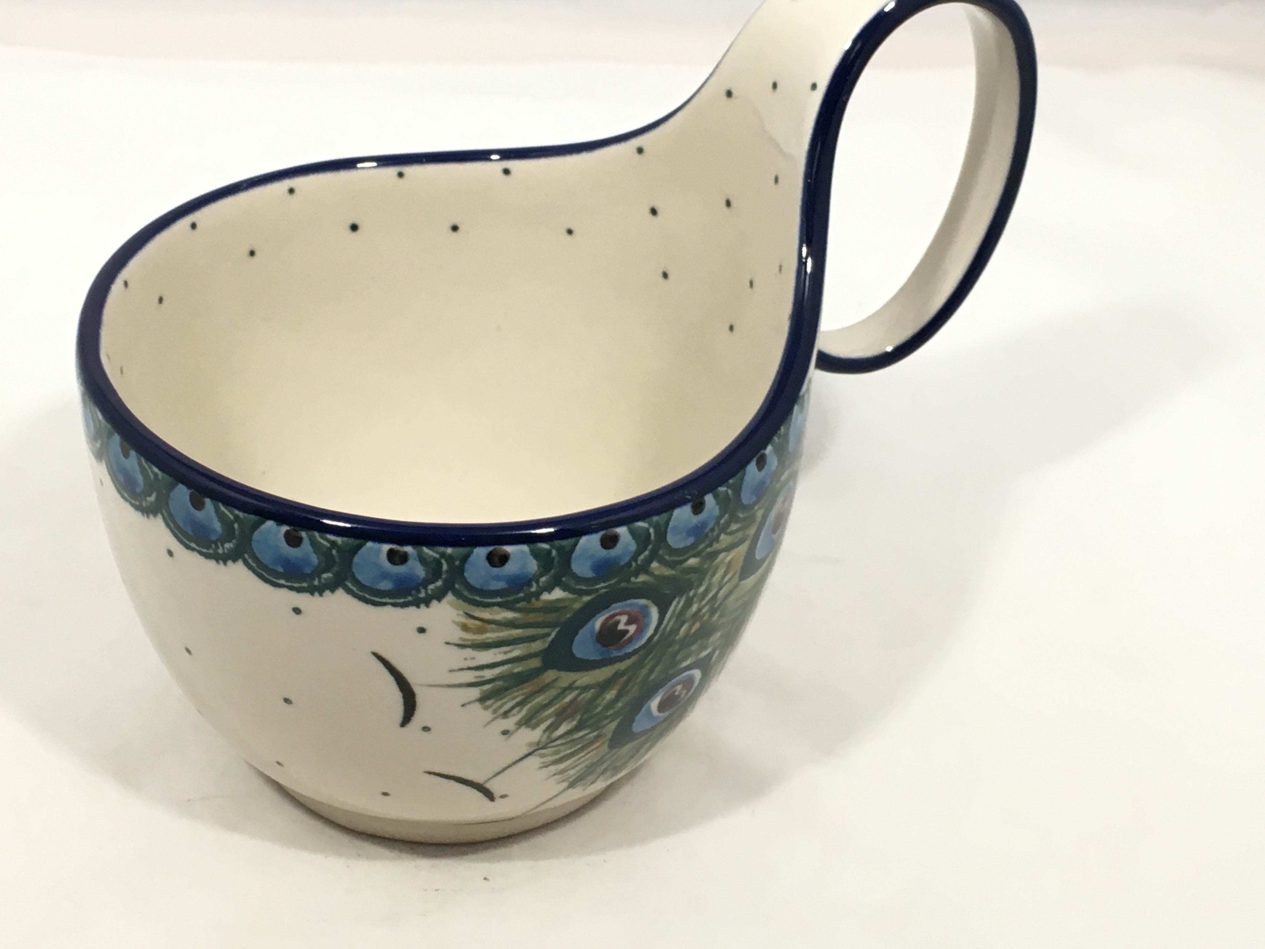 Bowl w/ Loop Handle ~ 16 oz ~ Art of the Feather
