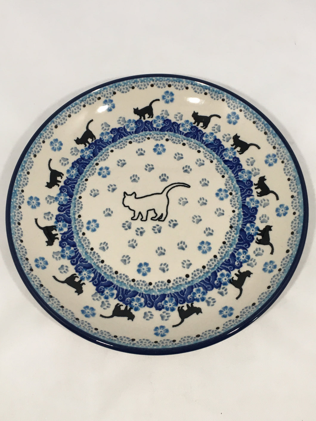 Plate ~ 7.75 inch ~ White Cat