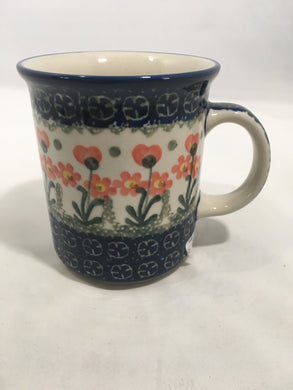 Mug ~ Straight Side ~ 8 oz ~ Peach Spring Daisy