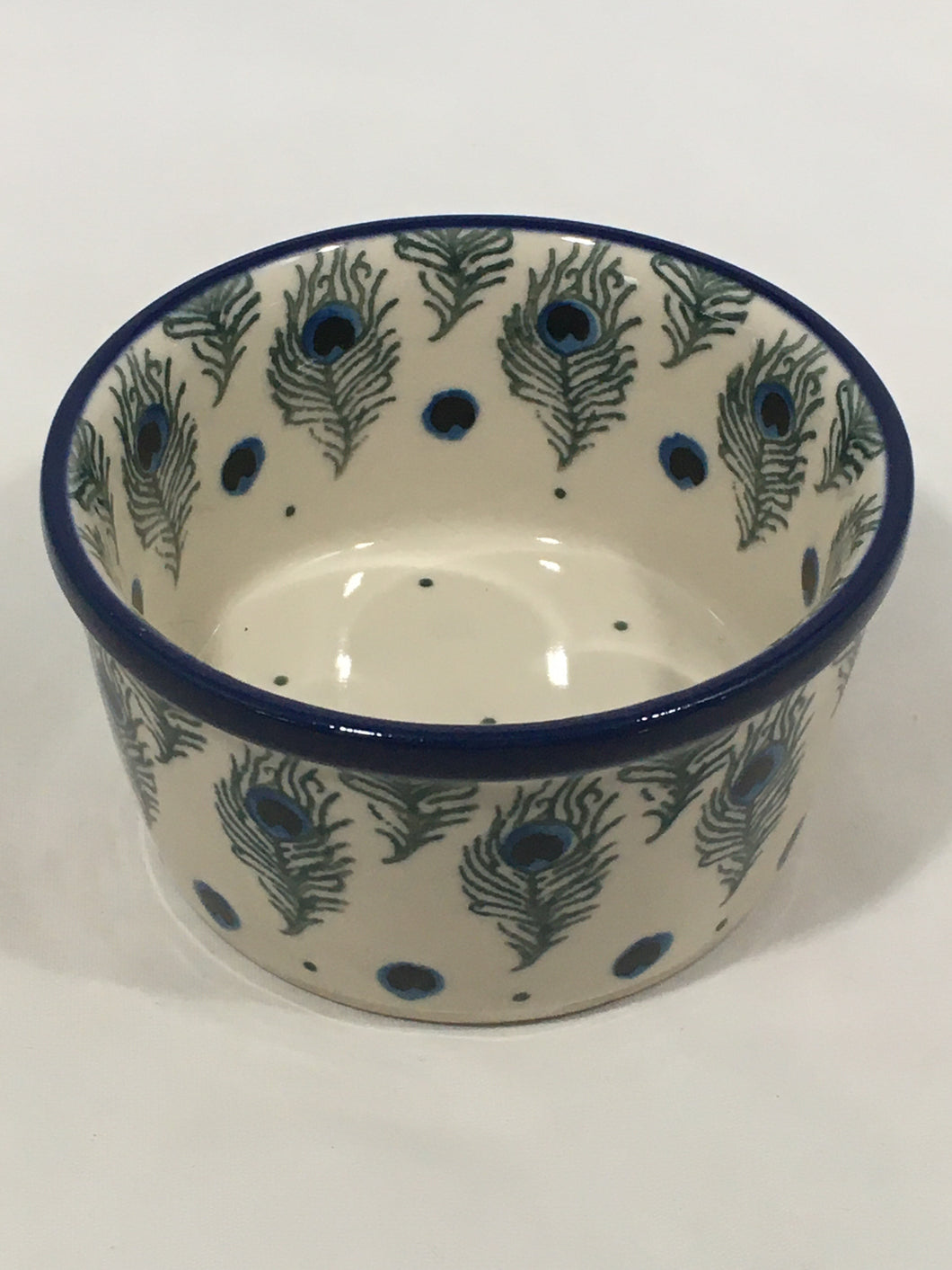 Bowl ~ Ramekin ~ 3.75 inch ~ Eye of Feather
