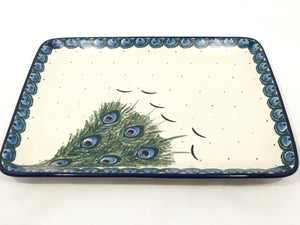 Platter ~ Rectangular ~ 9.5 inch ~ Art of the Feather