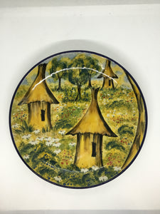 Limited Edition Large Plate With Hut