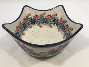 Bowl ~ Star Shaped ~ 7.25w ~ Garden Party