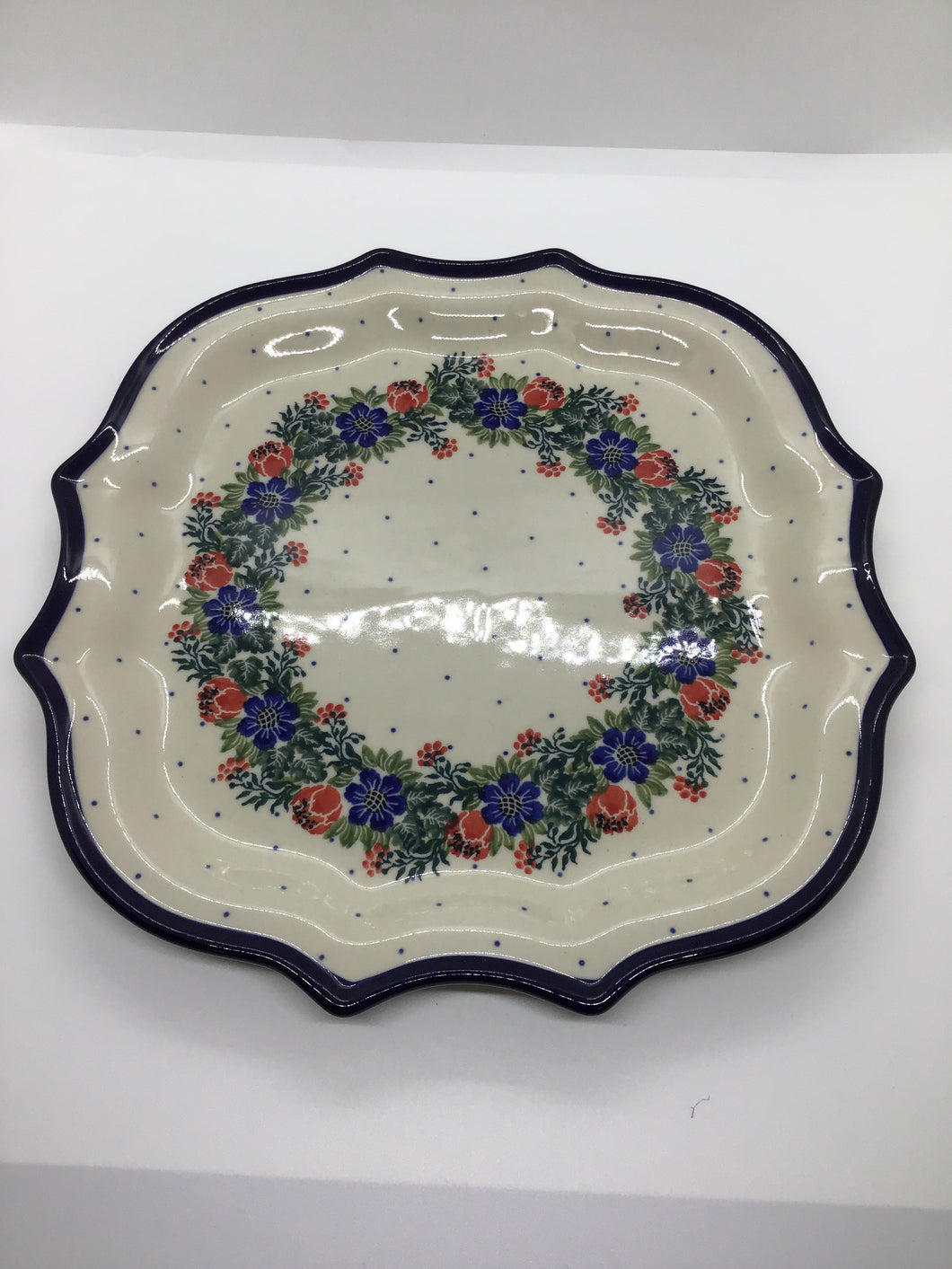Serpentine Tray ~ 10.5 inch ~ Garden Party