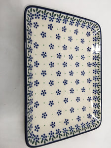 Platter ~ Rectangular ~ 9.5 inch ~ Dotty Dot