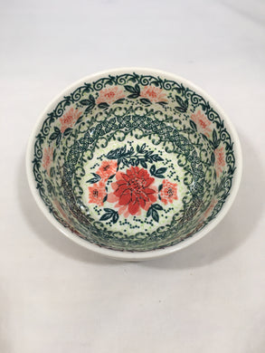 9013 Malwa Ice Cream Bowl Red Flower