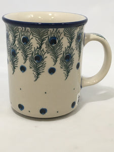 Mug ~ Straight Side ~ 8 oz ~ Eye of Feather
