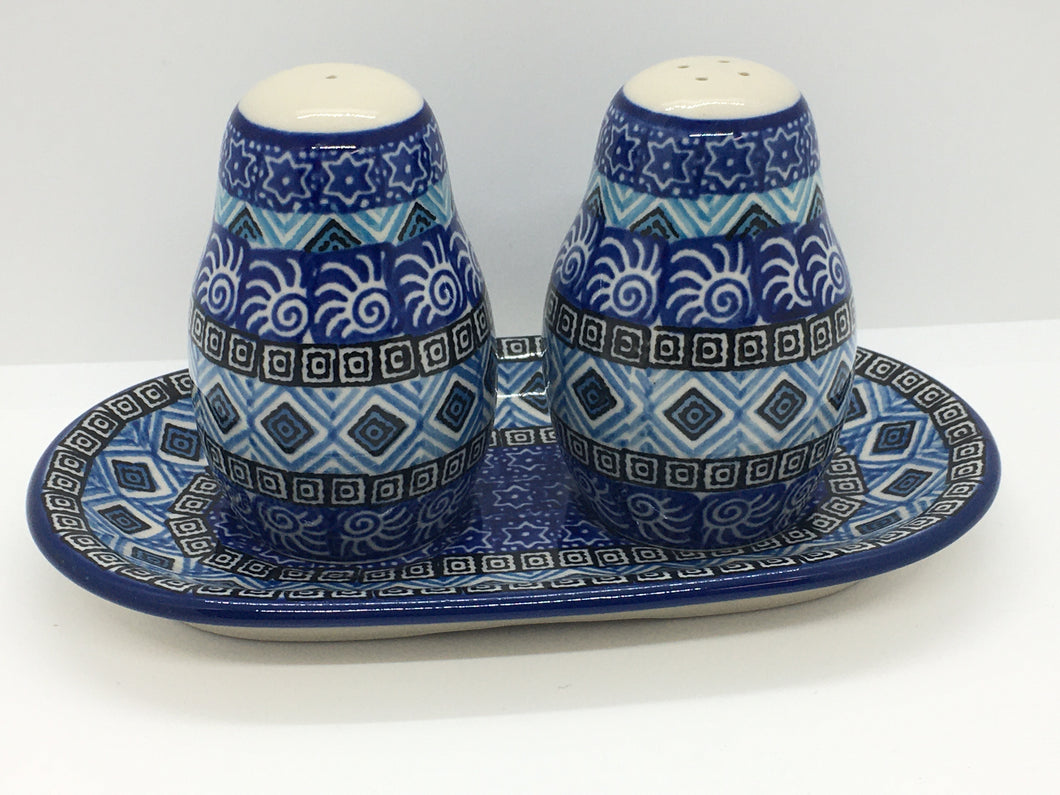 Salt and Pepper ~ 3.25 inch ~ Blue Aztec