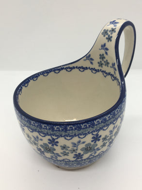 Bowl w/ Loop Handle ~ 16 oz ~ Cool Blue