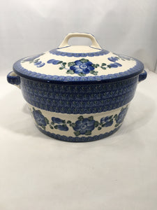 Covered Casserole (2 qt) ~ Blue Poppy