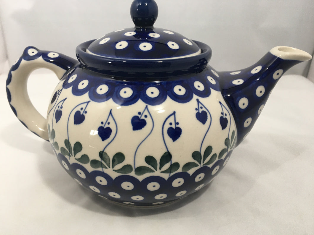 Teapot ~ (1 1/4 qt) ~ Bleeding Heart
