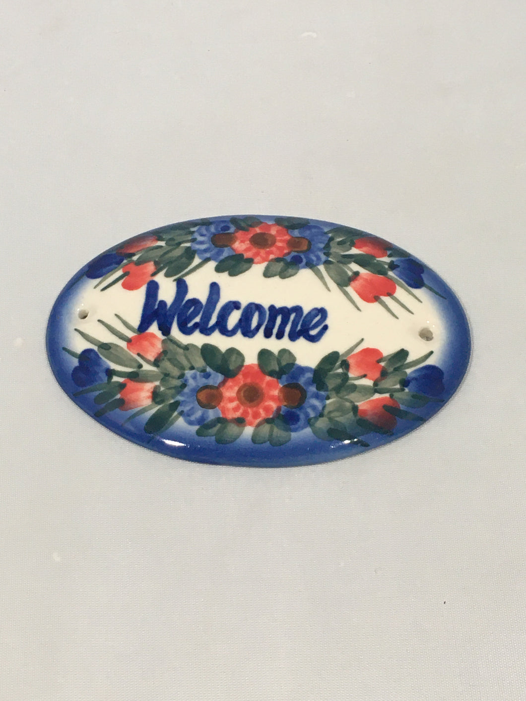 Welcome Sign- Triple Flower