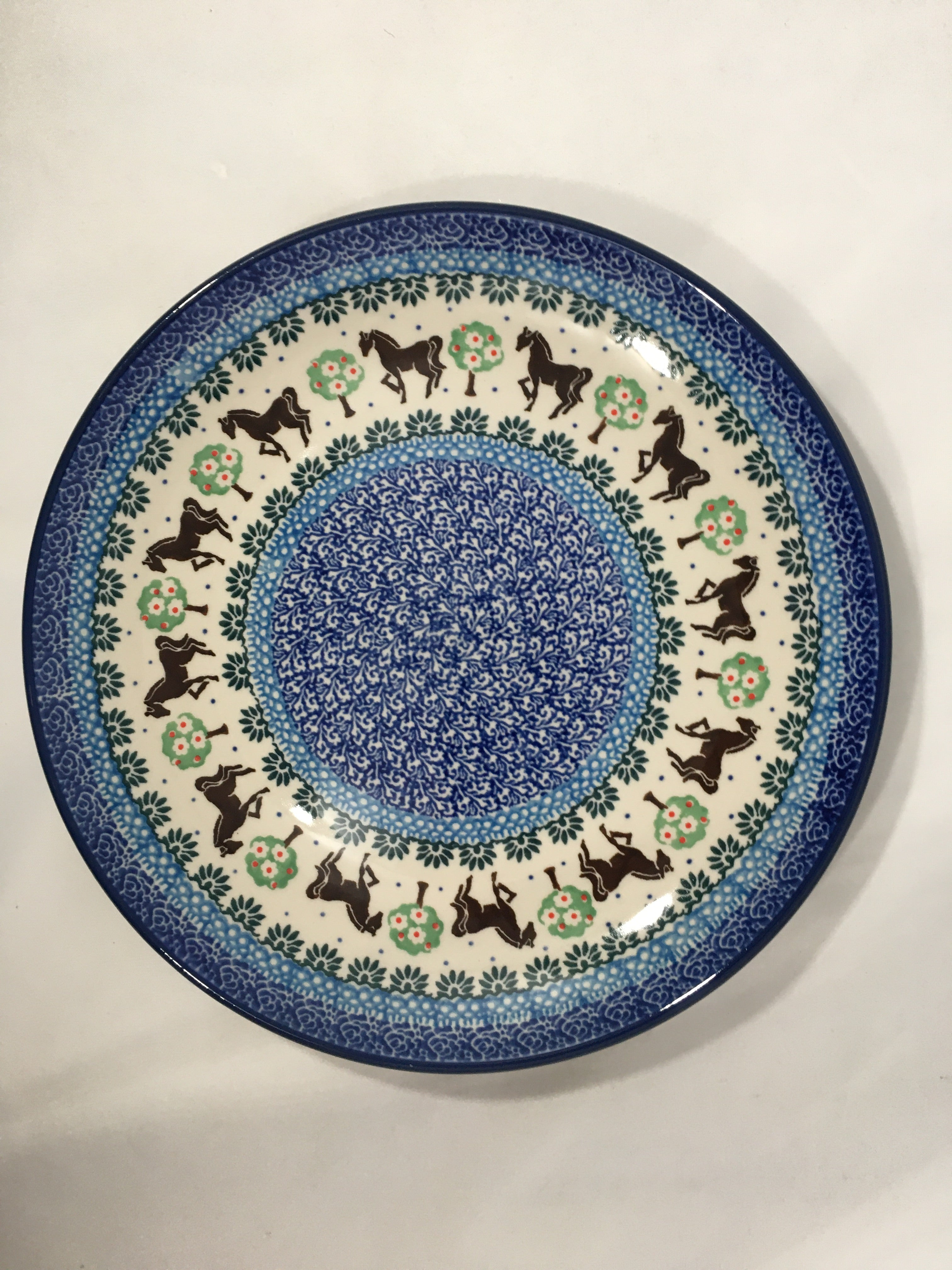 Plate ~ Dinner ~  10 inch ~ Brown Horse