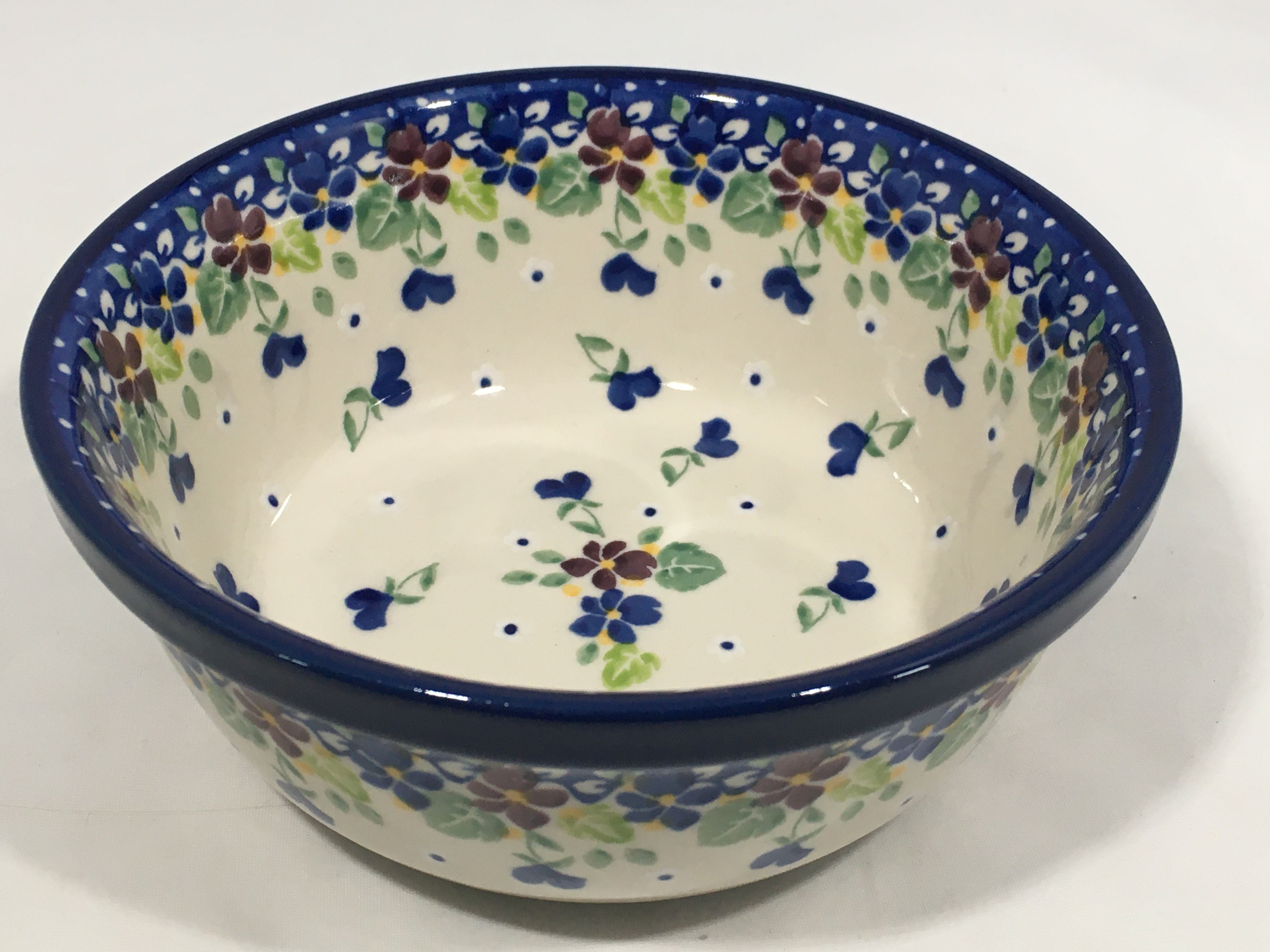 Bowl ~ Soup / Salad / Cereal ~ 6W ~ Purple Pansy