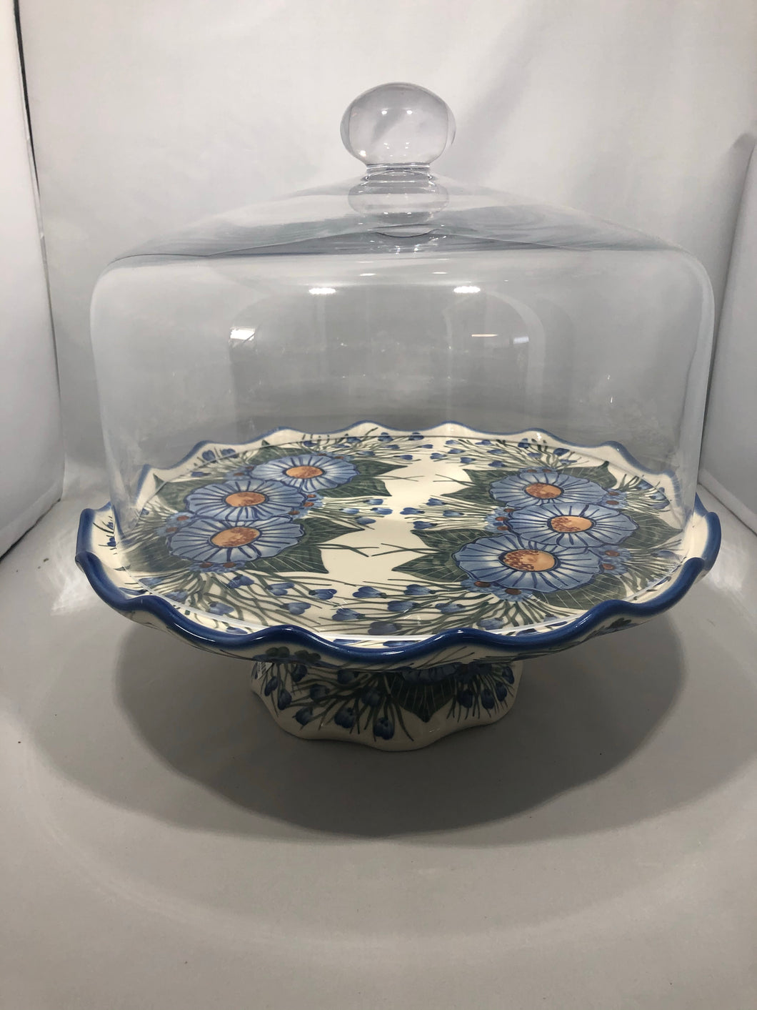 Cake Stand Big Blue Flower