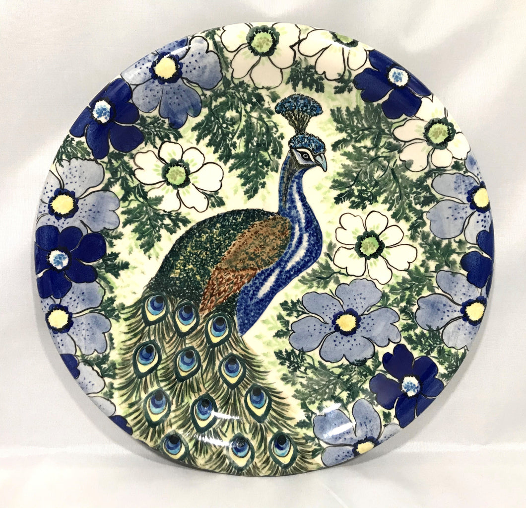Large Plate with Peacock Limited Edition