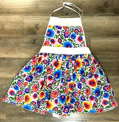 Ruffled Apron Bialy Lowicz (Child)