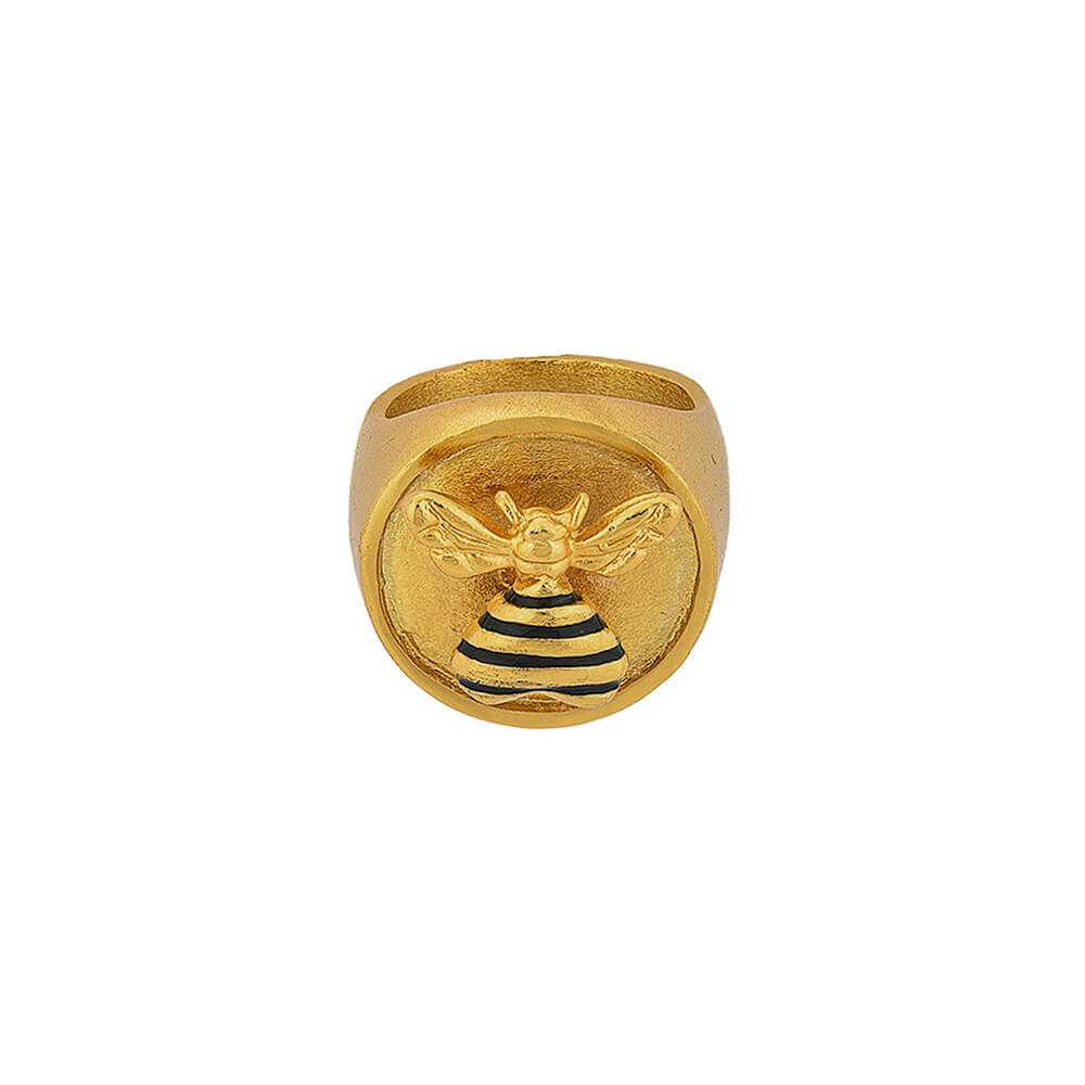 Anillo Bee Loved Stamp