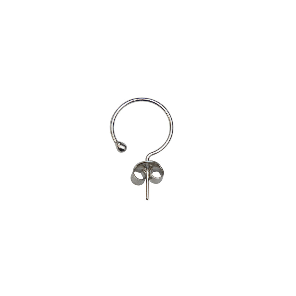 Single Baby Silver Hoop 15mm