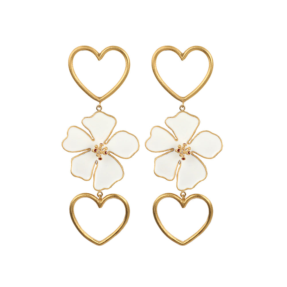 Alice Double Heart Earring
