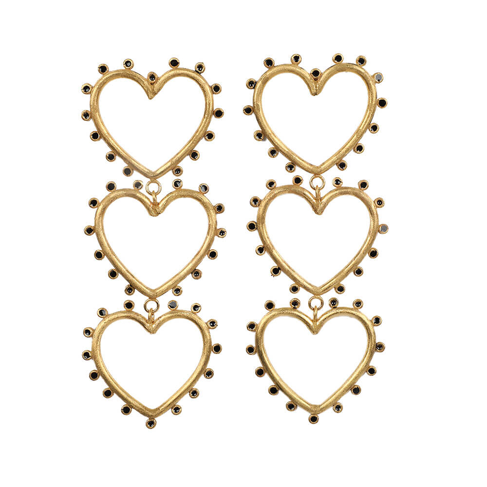 Wonderland Triple Love Earrings