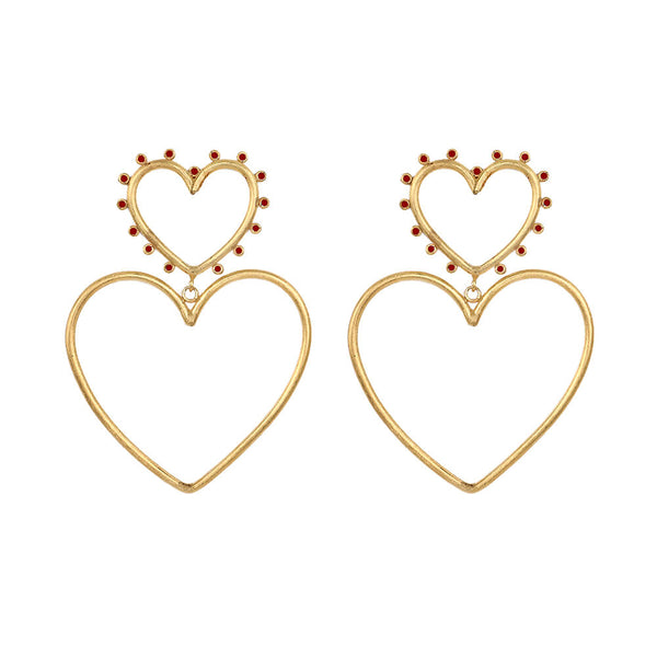 Aretes Wonderland Double Love