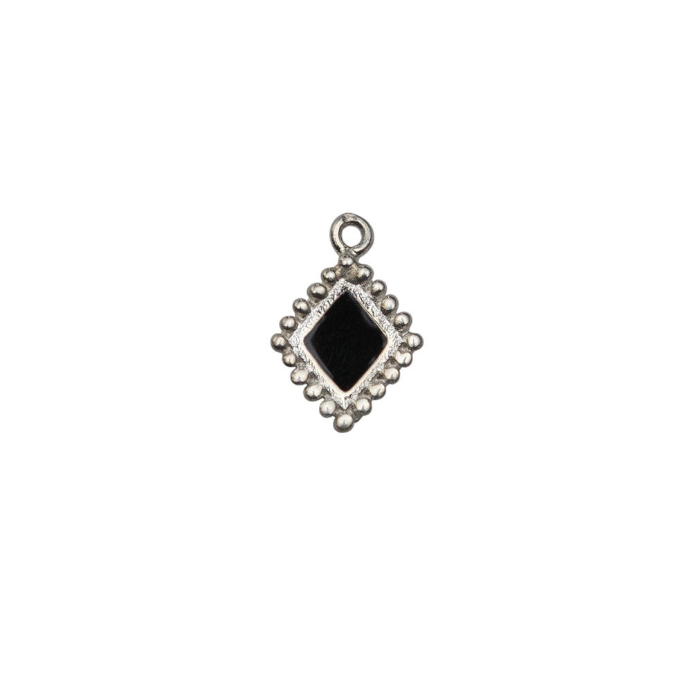Single Diamond Silver Charm