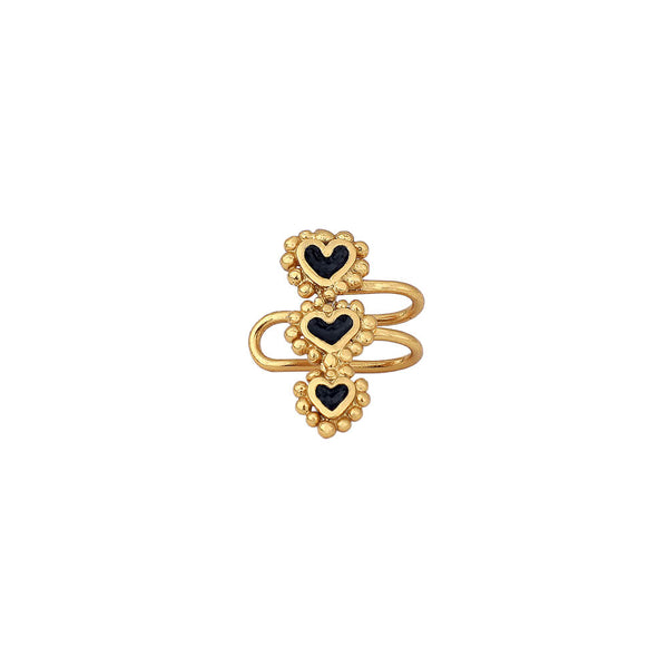 Beating Hearts Triple Earcuff