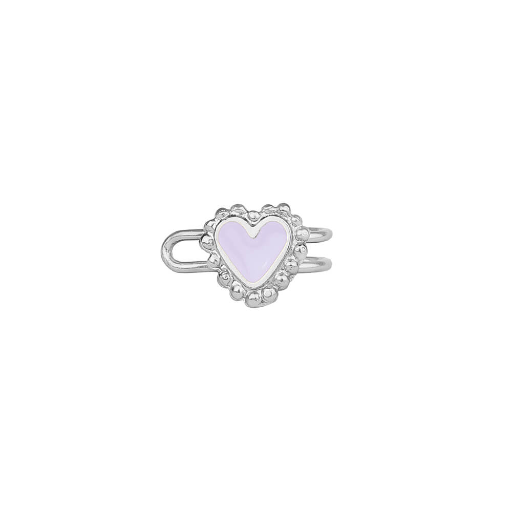 Beating Hearts Single Earcuff Plata