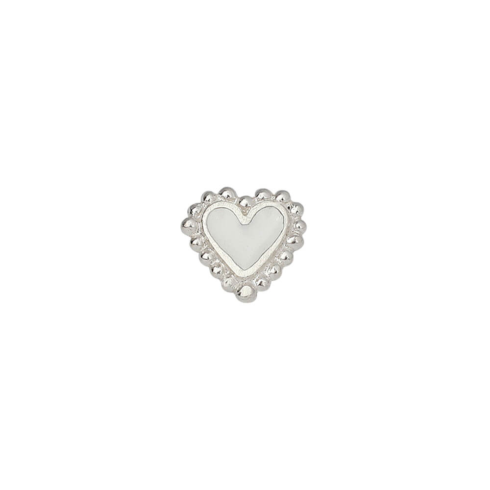 Beating Hearts Baby Studs Silver