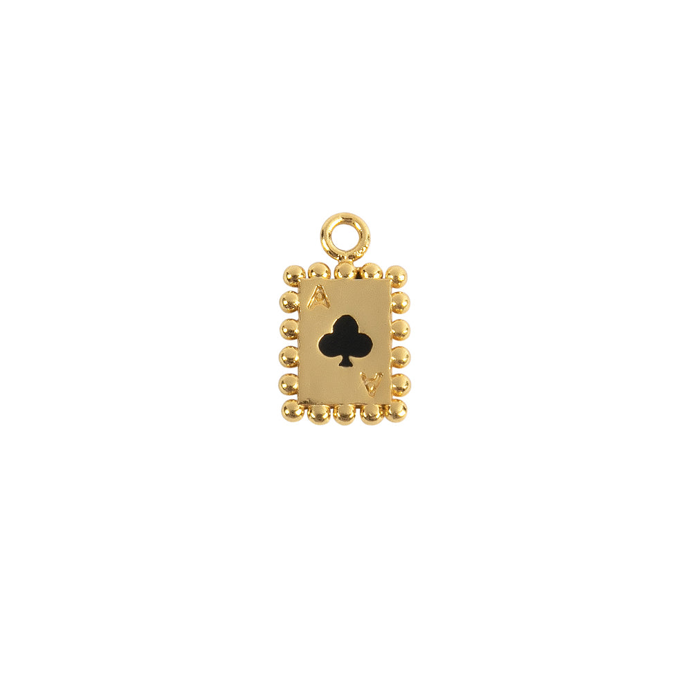 Single Club Card Charm