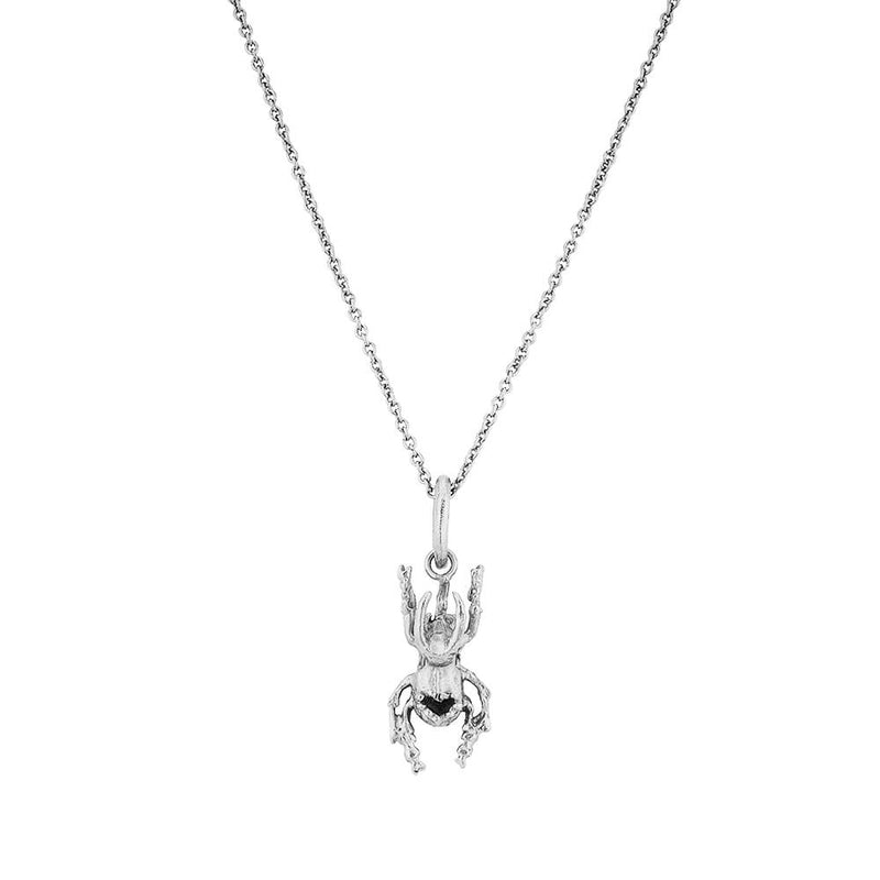 Cadena Beetle Heart Mini Plata
