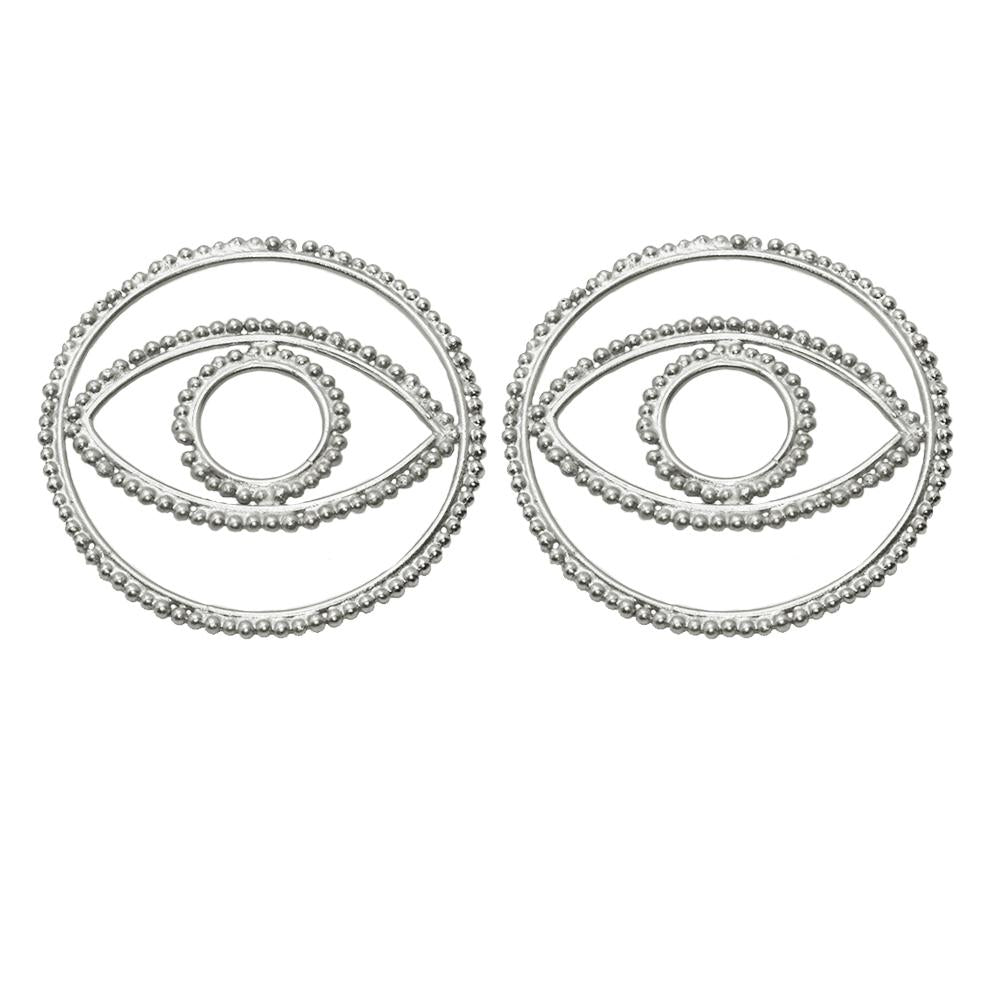 Iris XL Silver Earrings