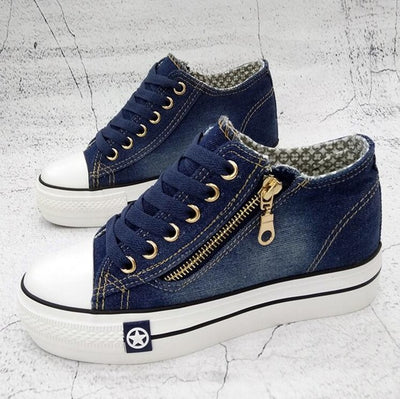 Denim Sneakers Shoes - Best Fitness Wears