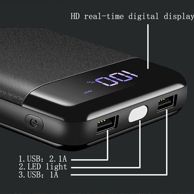 30000mah LCD Power Bank with External Battery - Best Fitness Wears
